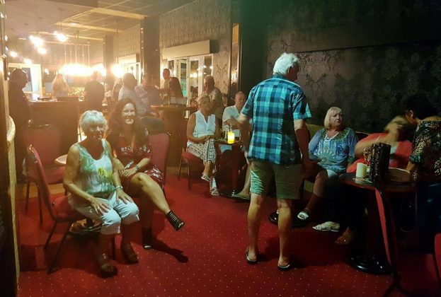 a cosy karaoke night in Albir